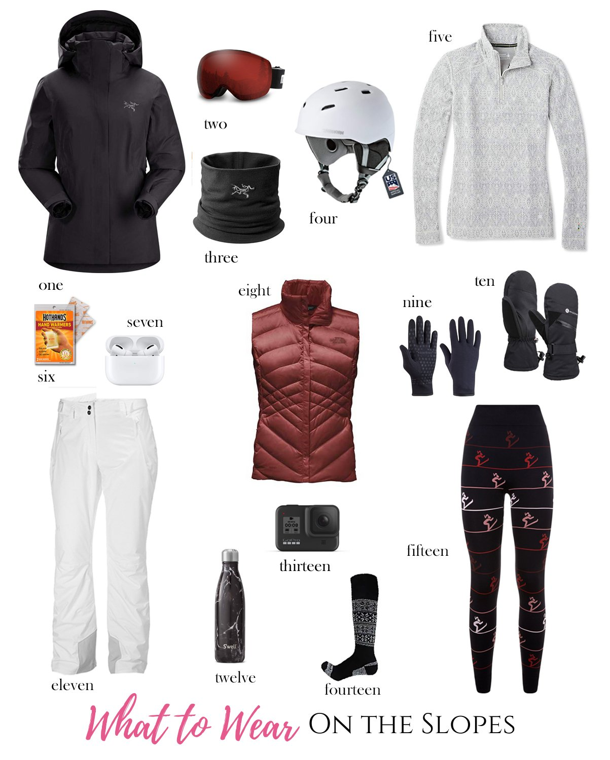 what to wear on the slopes - ski trip packing list