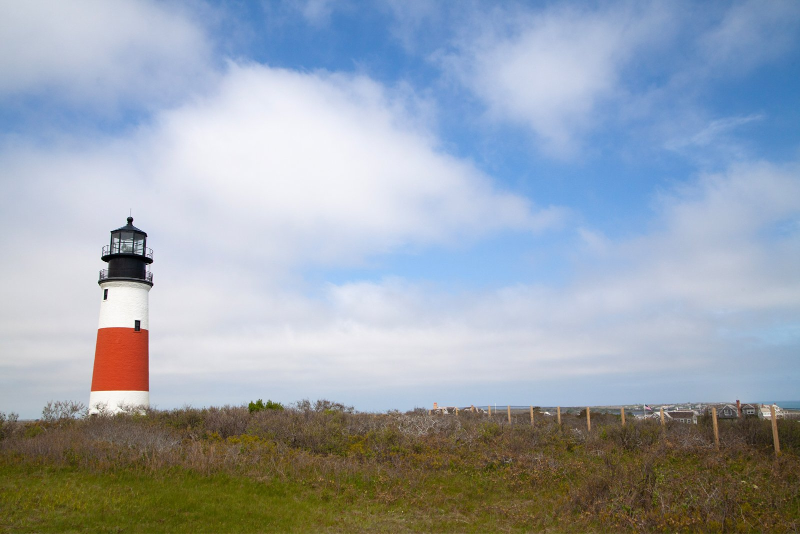 Sankaty Head lighthouse in Nantucket, Massachusetts