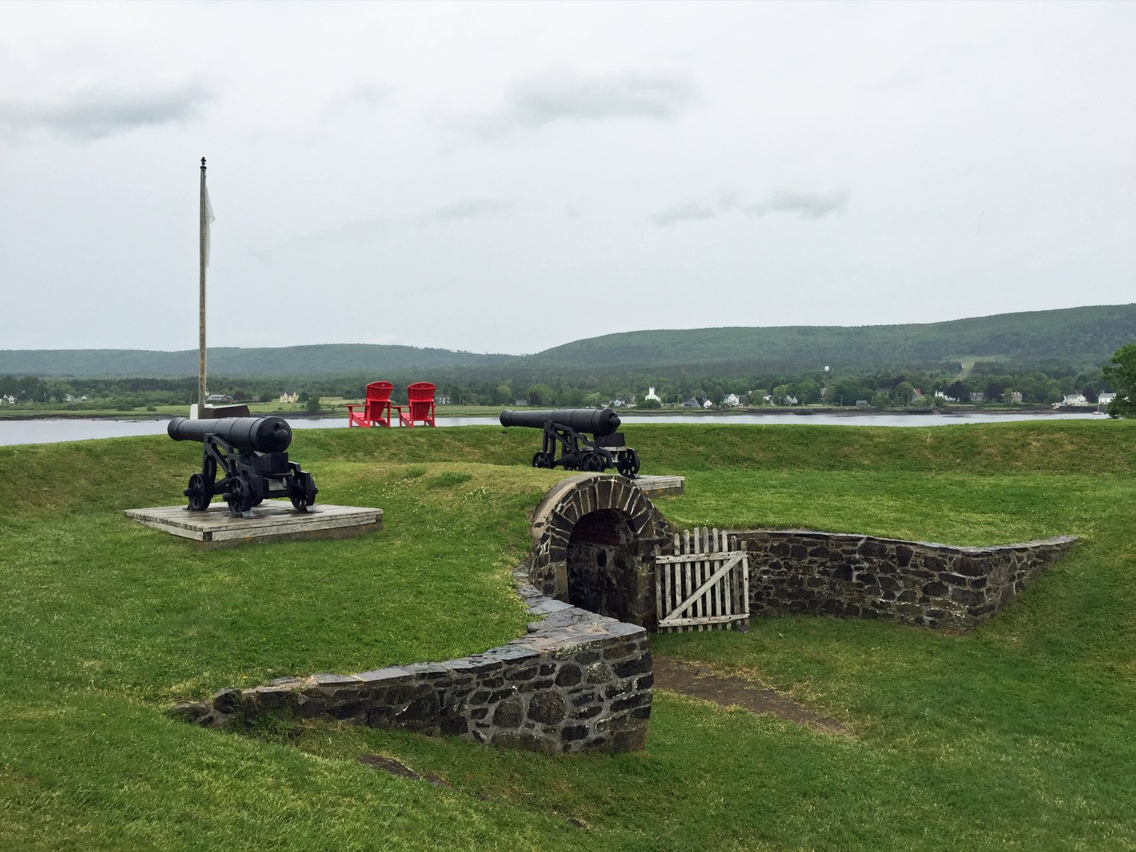 the fort at Annapolis Royal in Nova Scotia