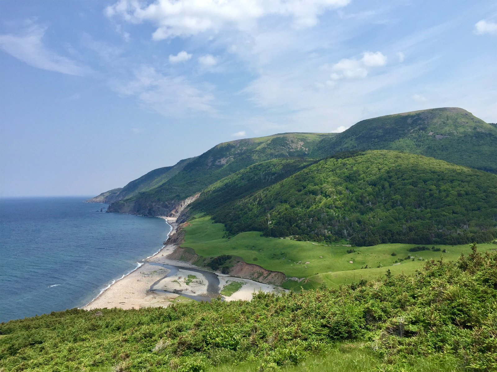 view of Pollet's Cove in Cape Breton Island, Nova Scotia, Canada
