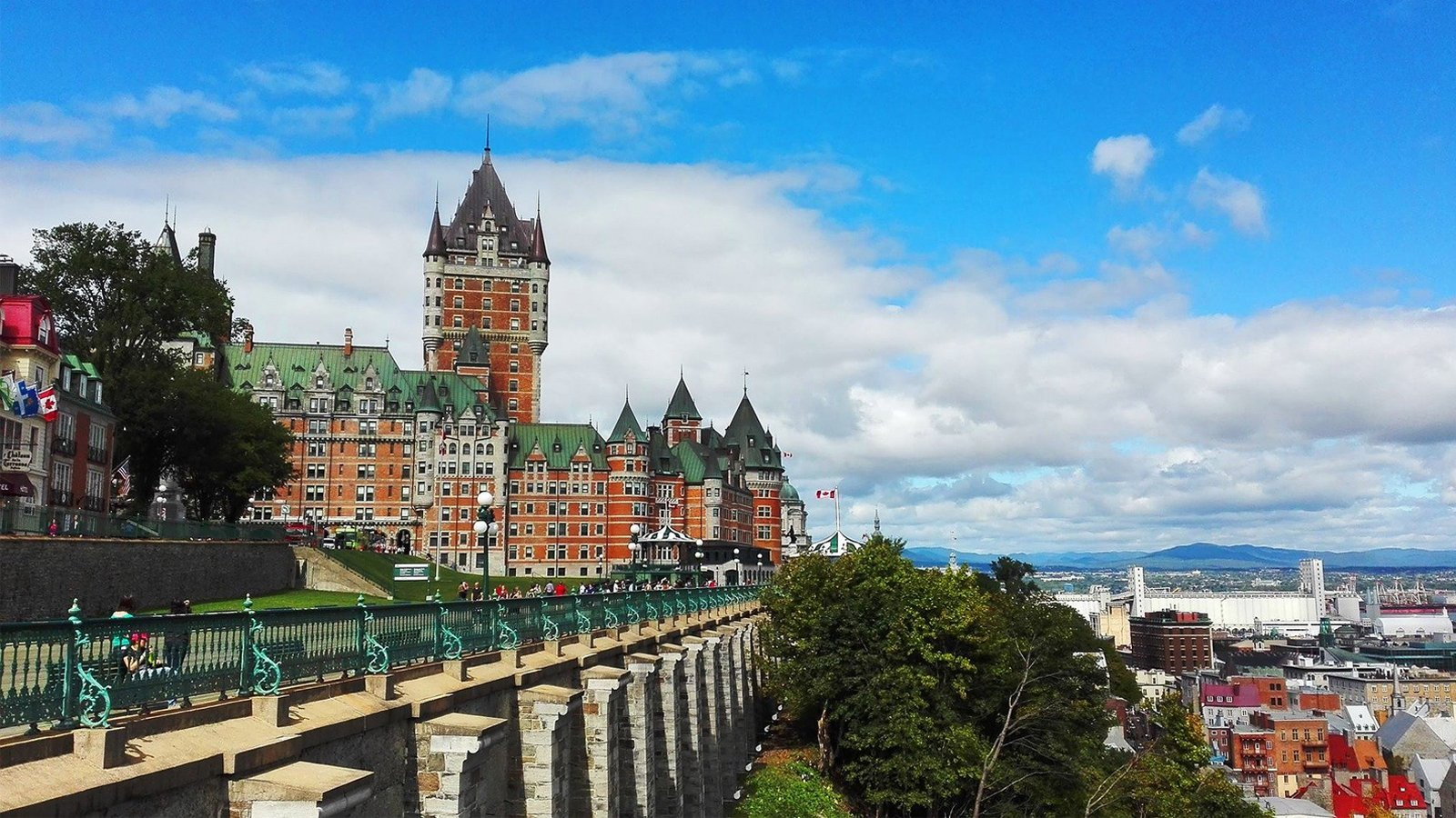 View of Chateau Le Frontenac in Quebec City, Canada