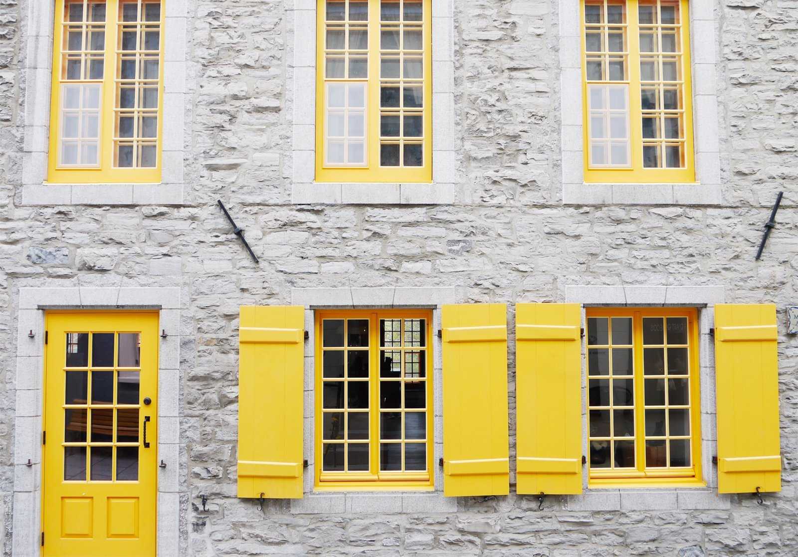 the front of a building in Old Quebec City, Canada