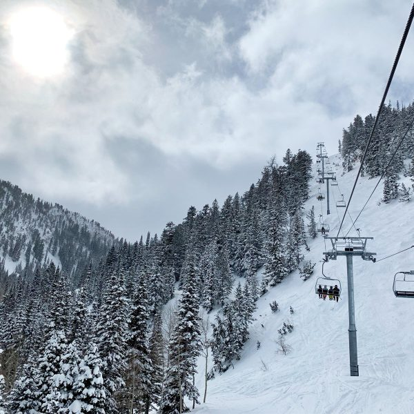 ski lift at snowbird in salt lake city, utah