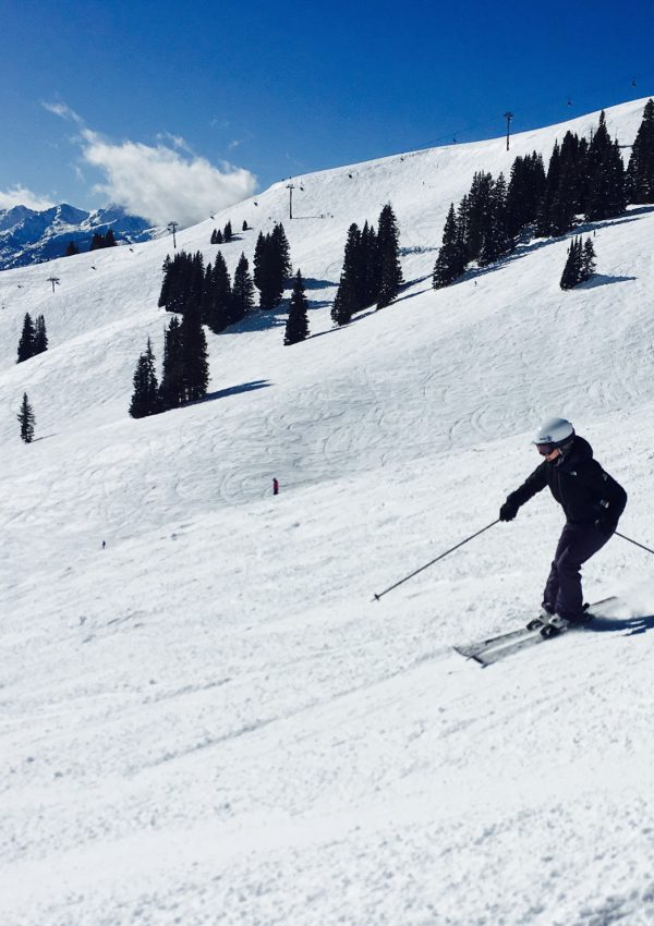 a person skiing in Colorado