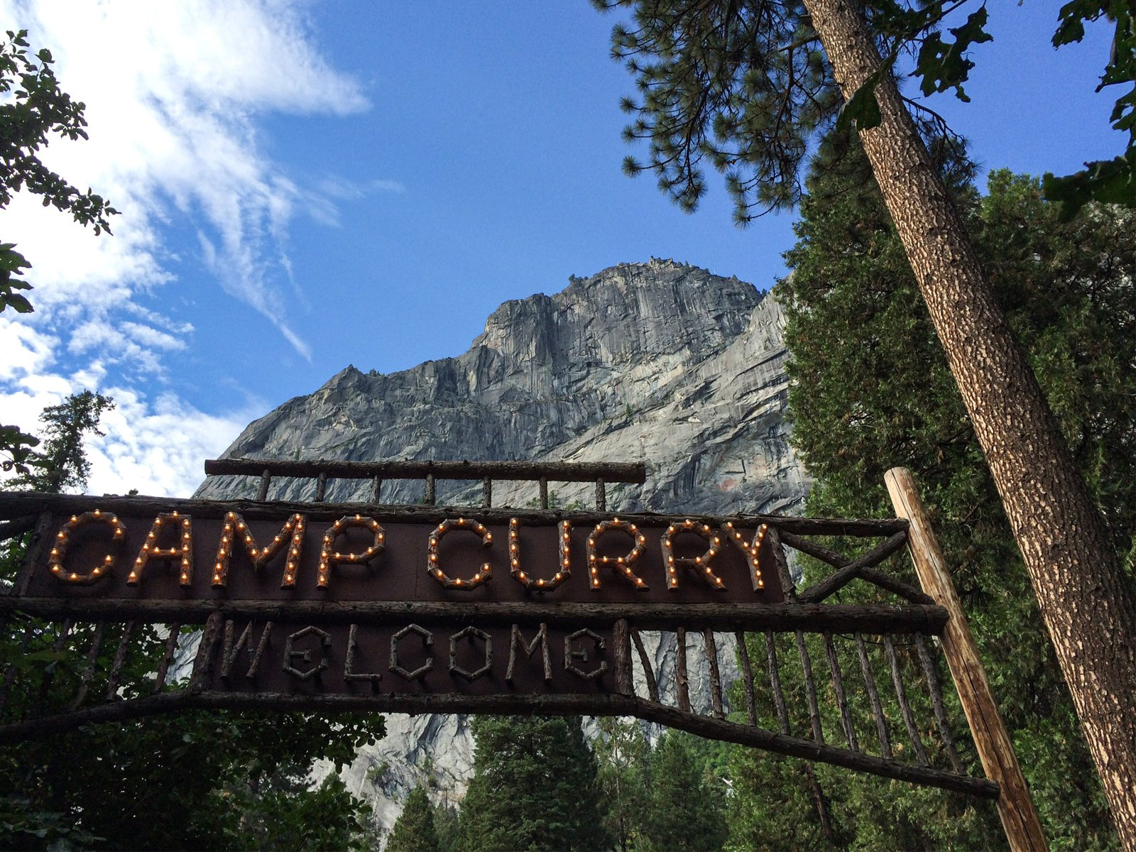 Camp Curry in Yosemite National Park