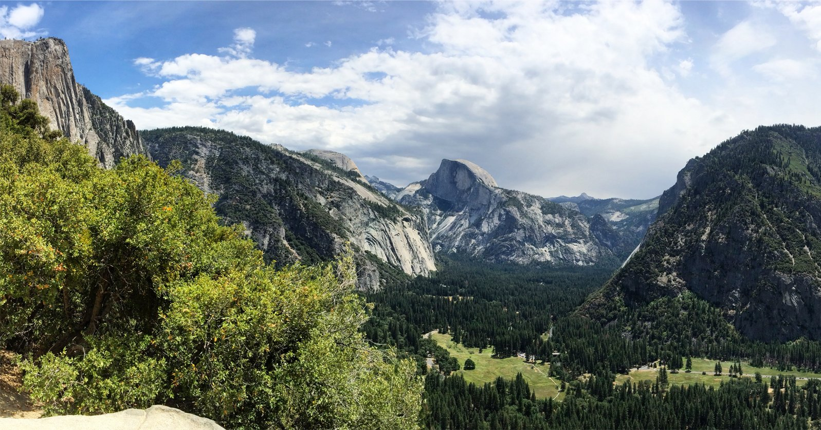 a view of Half Dome in Yosemite National Park, California