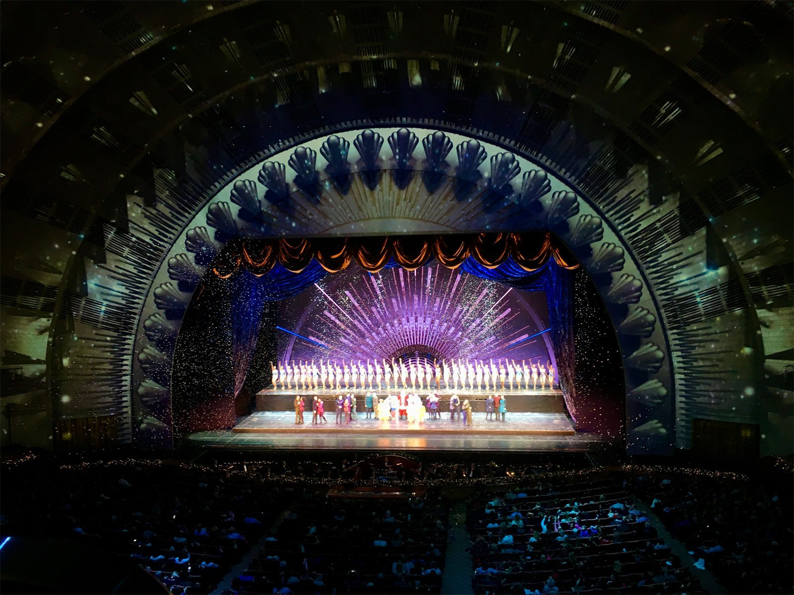 Rockettes Christmas Spectacular show at Rockefeller Center in New York City during the holidays
