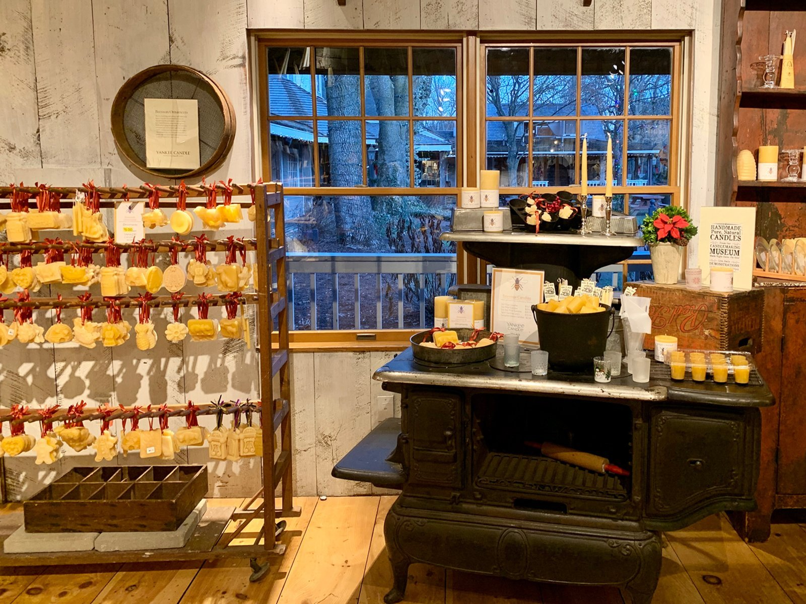 display of beeswax candle gifts at the Yankee Candle Village Store in South Deerfield, Massachusetts