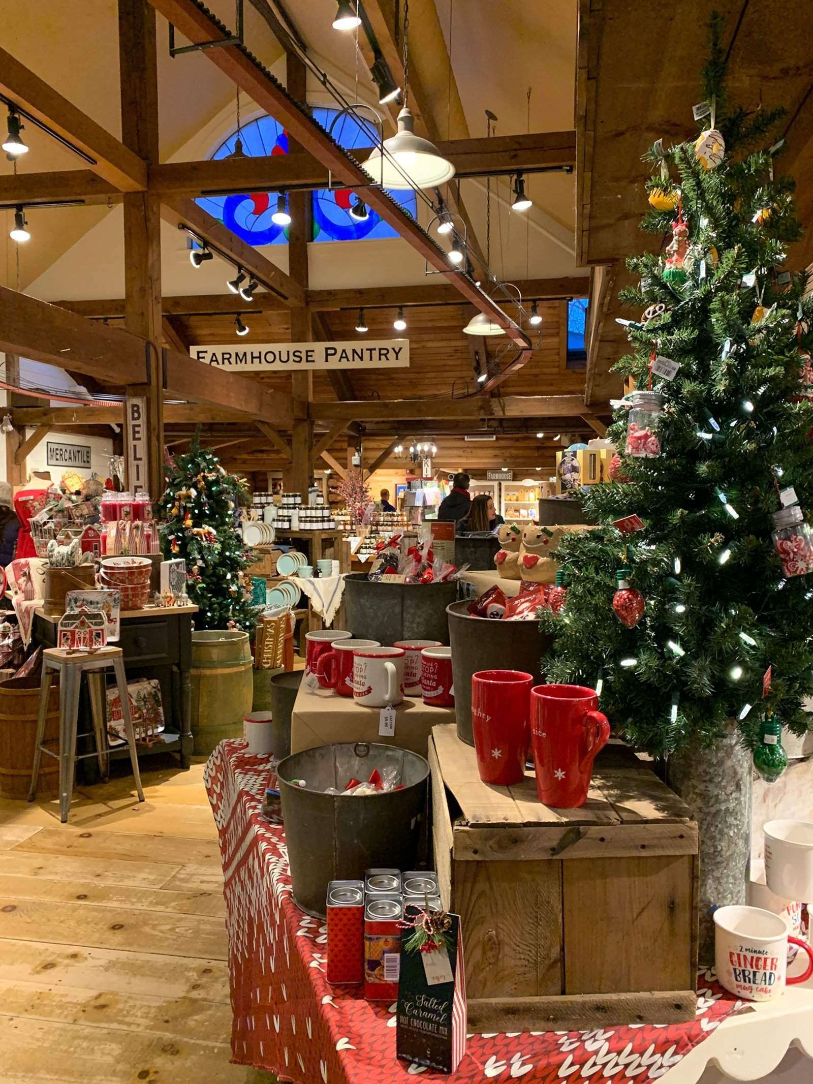 holiday gifts on display at the yankee candle village in south deerfield, massachusetts