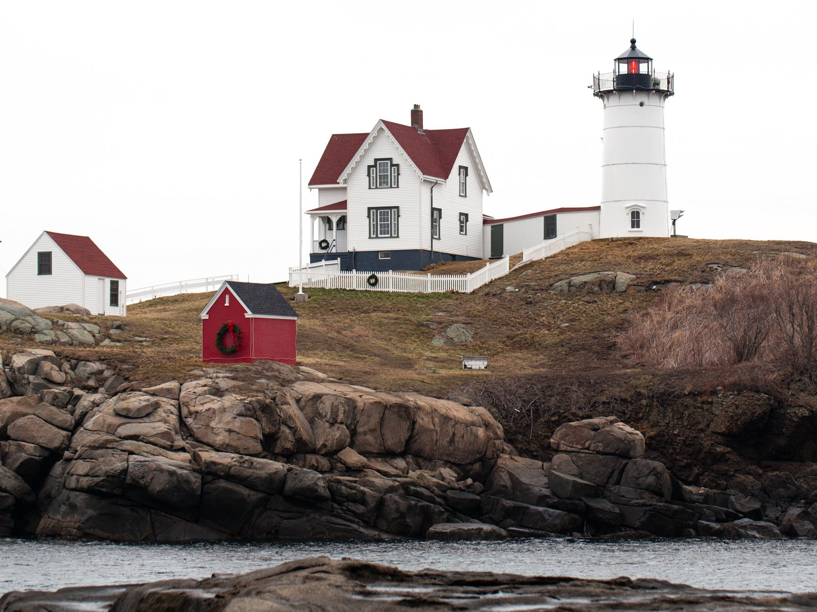 Nubble Light in York, ME is one of the most iconic New England lighthouses.